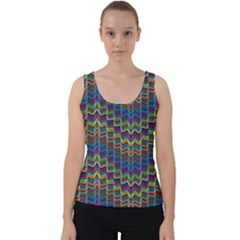 Decorative Ornamental Abstract Wave Velvet Tank Top by Mariart