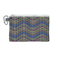Decorative Ornamental Abstract Wave Canvas Cosmetic Bag (medium)