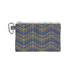 Decorative Ornamental Abstract Wave Canvas Cosmetic Bag (small)