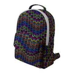 Decorative Ornamental Abstract Wave Flap Pocket Backpack (large)