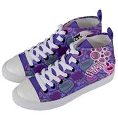 Charmed (purple Pattern) Women s Mid Top Canvas Sneakers by TransfiguringAdoptionStore