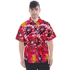 Blooming Men s Short Sleeve Shirt