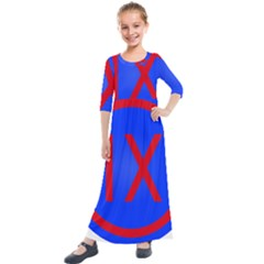 United States Army 9th Mission Support Command Shoulder Sleeve Insignia Kids  Quarter Sleeve Maxi Dress by abbeyz71