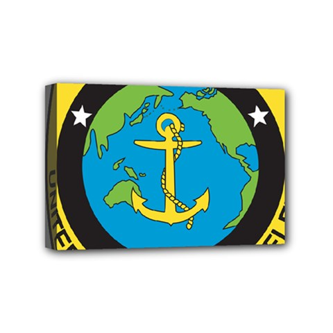 Seal Of Commander Of United States Pacific Fleet Mini Canvas 6  X 4  (stretched)