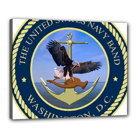 Seal Of United States Navy Band Canvas 20  X 16  (stretched)