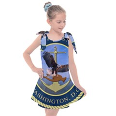 Seal Of United States Navy Band Kids  Tie Up Tunic Dress