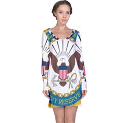 Seal Of United States Navy Reserve, 2005 2017 Long Sleeve Nightdress