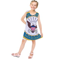 Seal Of United States Navy Reserve, 2005 2017 Kids  Tunic Dress