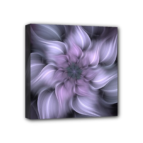 Purple Flower Windswept Mini Canvas 4  X 4  (stretched)