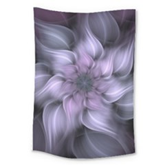 Purple Flower Windswept Large Tapestry