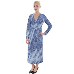 Echo Blue Velvet Maxi Wrap Dress