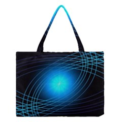 Blue Elliptical Medium Tote Bag