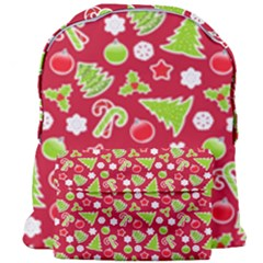 Christmas Paper Scrapbooking Pattern Giant Full Print Backpack
