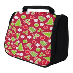 Christmas Paper Scrapbooking Pattern Full Print Travel Pouch (small) by Mariart