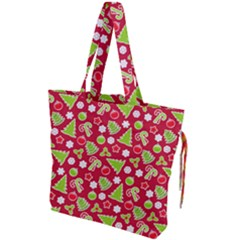Christmas Paper Scrapbooking Pattern Drawstring Tote Bag by Mariart