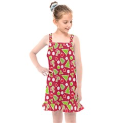 Christmas Paper Scrapbooking Pattern Kids  Overall Dress by Mariart