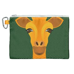 Giraffe Animals Zoo Canvas Cosmetic Bag (xl) by Mariart