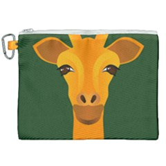 Giraffe Animals Zoo Canvas Cosmetic Bag (xxl) by Mariart