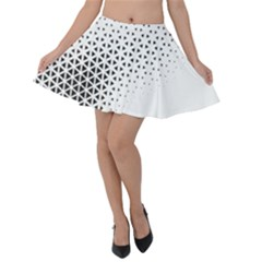 Geometric Abstraction Pattern Velvet Skater Skirt