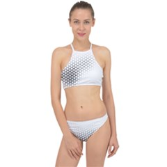 Geometric Abstraction Pattern Racer Front Bikini Set