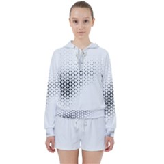 Geometric Abstraction Pattern Women s Tie Up Sweat by Mariart