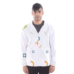 Geometry Triangle Line Hooded Windbreaker (men)