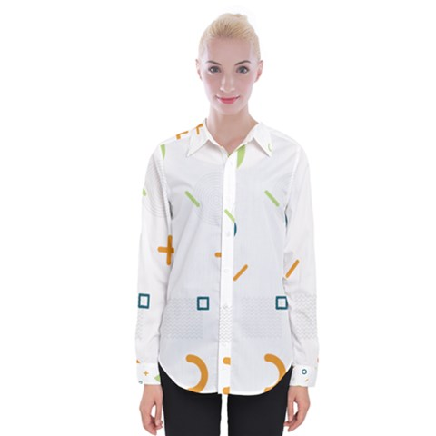 Geometry Triangle Line Womens Long Sleeve Shirt by Mariart
