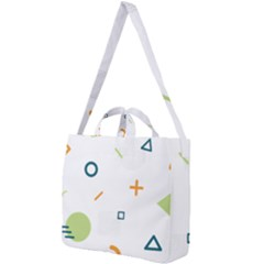 Geometry Triangle Line Square Shoulder Tote Bag by Mariart