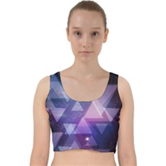Geometric Triangle Velvet Racer Back Crop Top by Mariart
