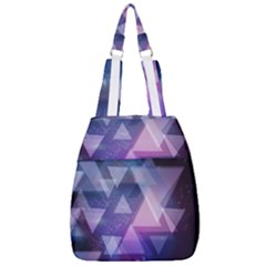 Geometric Triangle Center Zip Backpack