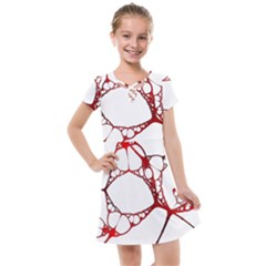 Fractals Cells Autopsy Pattern Kids  Cross Web Dress by Mariart