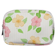 Flowers Leaf Stripe Pattern Make Up Pouch (small)