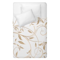 Floating Gold Elegant Pattern Duvet Cover Double Side (single Size) by Jojostore