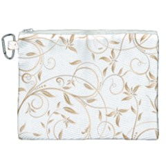 Floating Gold Elegant Pattern Canvas Cosmetic Bag (xxl)