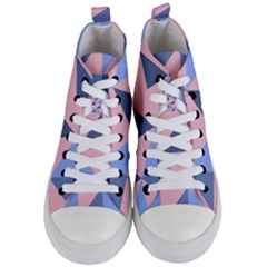 Fabric Geometric Cotton Texture Women s Mid Top Canvas Sneakers