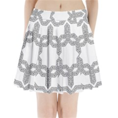 Encapsulated Pleated Mini Skirt by Jojostore
