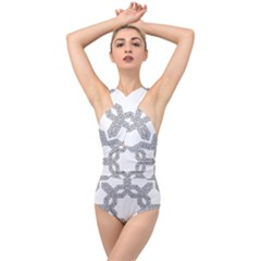 Encapsulated Cross Front Low Back Swimsuit by Jojostore