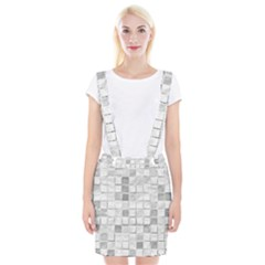 Diamonds Rectangle Braces Suspender Skirt