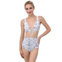 Diamonds Rectangle Tied Up Two Piece Swimsuit