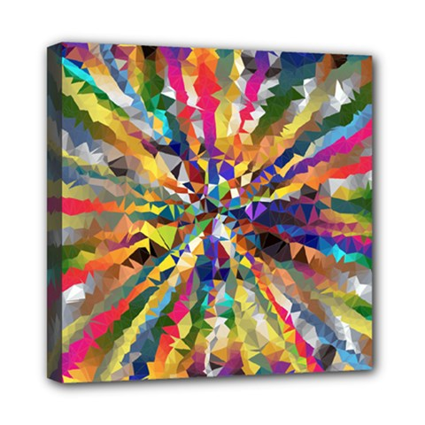 Colorful Prismatic Chromatic Mini Canvas 8  X 8  (stretched) by Jojostore