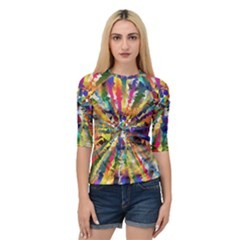 Colorful Prismatic Chromatic Quarter Sleeve Raglan Tee by Jojostore