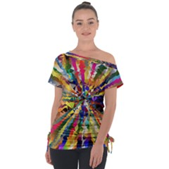 Colorful Prismatic Chromatic Tie Up Tee by Jojostore