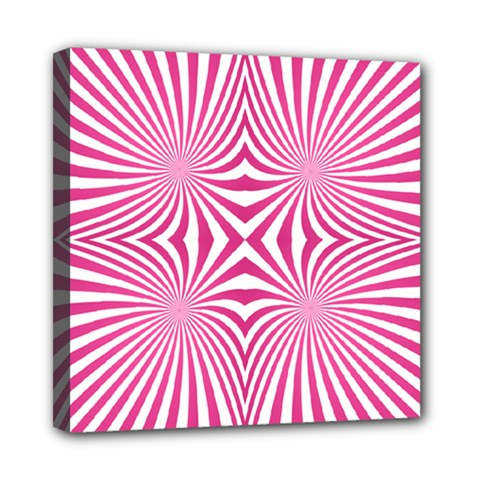 Hypnotic Psychedelic Abstract Ray Mini Canvas 8  X 8  (stretched) by Alisyart
