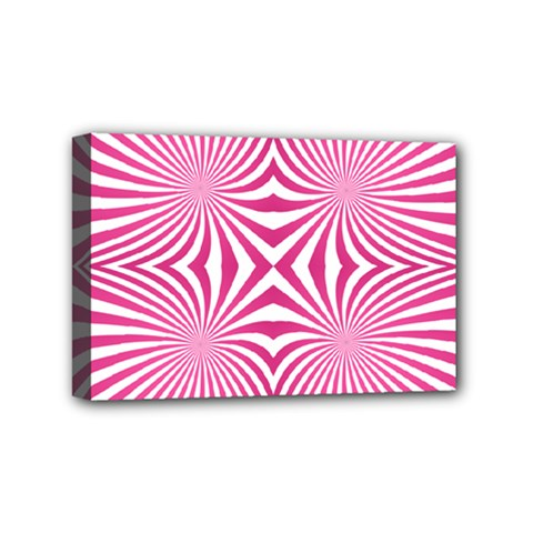 Hypnotic Psychedelic Abstract Ray Mini Canvas 6  X 4  (stretched) by Alisyart