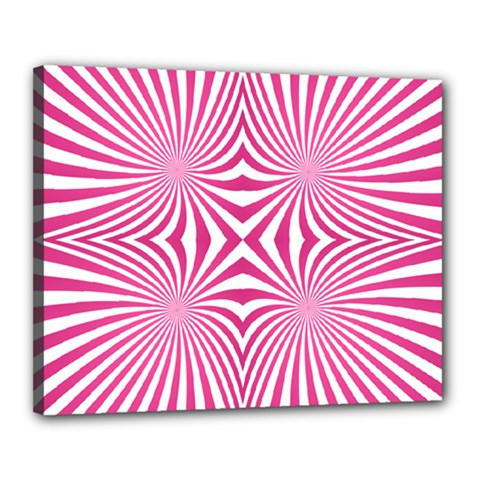 Hypnotic Psychedelic Abstract Ray Canvas 20  X 16  (stretched)