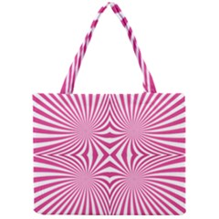 Hypnotic Psychedelic Abstract Ray Mini Tote Bag by Alisyart