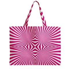 Hypnotic Psychedelic Abstract Ray Zipper Mini Tote Bag