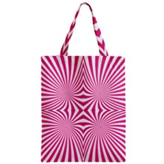 Hypnotic Psychedelic Abstract Ray Zipper Classic Tote Bag by Alisyart