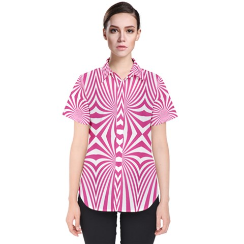 Hypnotic Psychedelic Abstract Ray Women s Short Sleeve Shirt by Alisyart