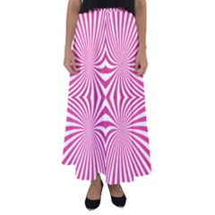 Hypnotic Psychedelic Abstract Ray Flared Maxi Skirt